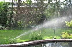Erwin Bakker Tuinaanleg - Onderhoud kan ook beregening in uw tuin leggen, zodat uw tuin niet uitdroogt
